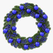 Blauwe kroon van Kerstmis 3d model
