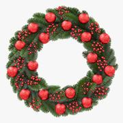 Rode kroon van Kerstmis 3d model
