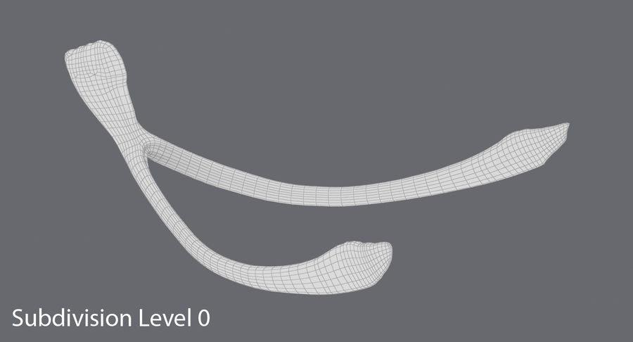 Wishbone royalty-free 3d model - Preview no. 13