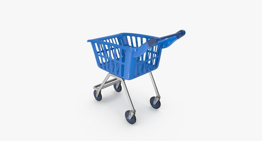 Kids shoping cart royalty-free 3d model - Preview no. 14