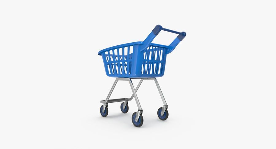 Kids shoping cart royalty-free 3d model - Preview no. 8