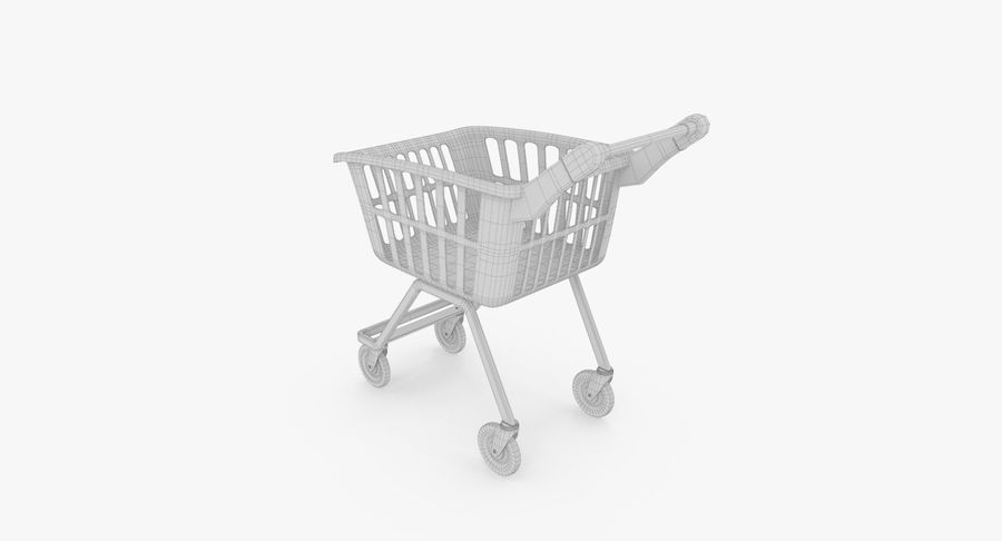 Kids shoping cart royalty-free 3d model - Preview no. 19