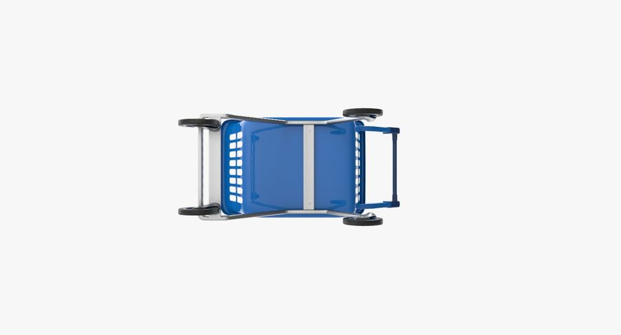 Kids shoping cart royalty-free 3d model - Preview no. 17