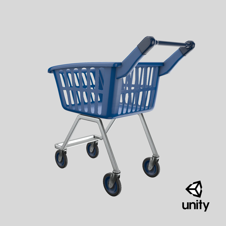 Kids shoping cart royalty-free 3d model - Preview no. 28