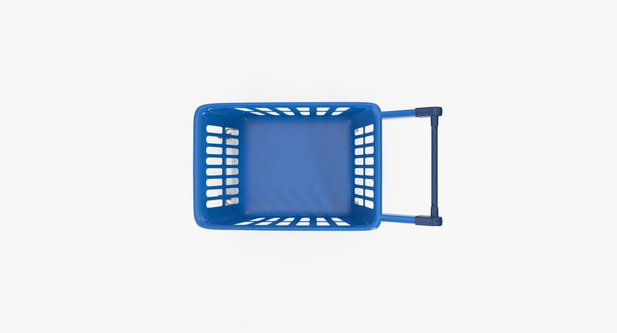 Kids shoping cart royalty-free 3d model - Preview no. 13