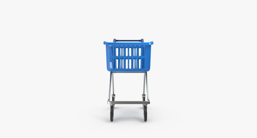 Kids shoping cart royalty-free 3d model - Preview no. 12