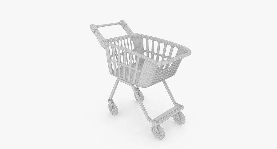 Kids shoping cart royalty-free 3d model - Preview no. 20