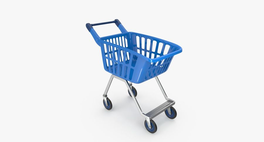 Kids shoping cart royalty-free 3d model - Preview no. 15