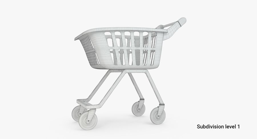 Kids shoping cart royalty-free 3d model - Preview no. 5