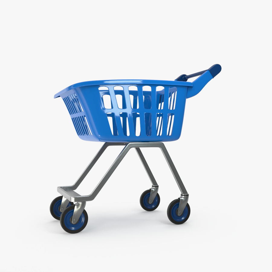 Kids shoping cart royalty-free 3d model - Preview no. 1
