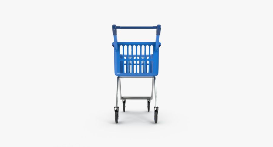 Kids shoping cart royalty-free 3d model - Preview no. 10