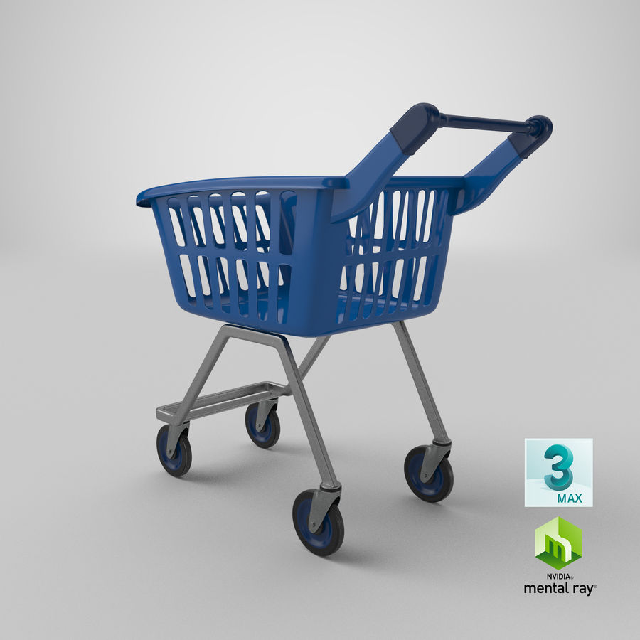 Kids shoping cart royalty-free 3d model - Preview no. 26