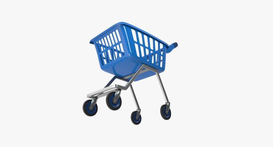 Kids shoping cart royalty-free 3d model - Preview no. 16