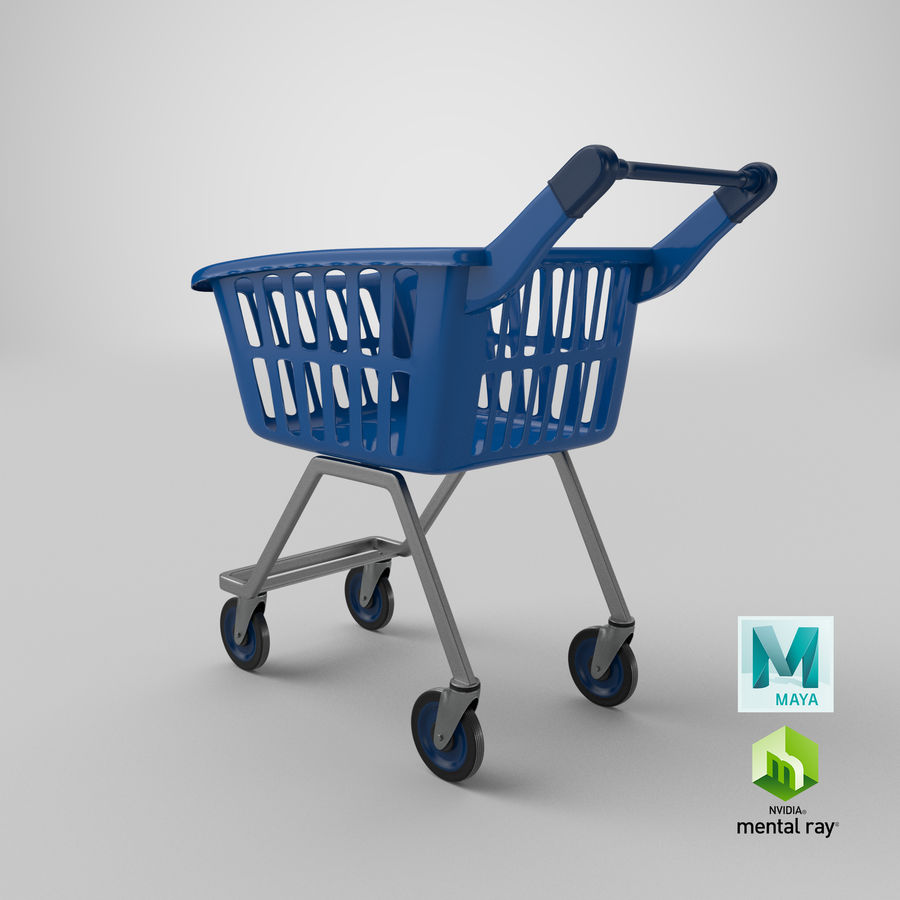 Kids shoping cart royalty-free 3d model - Preview no. 24