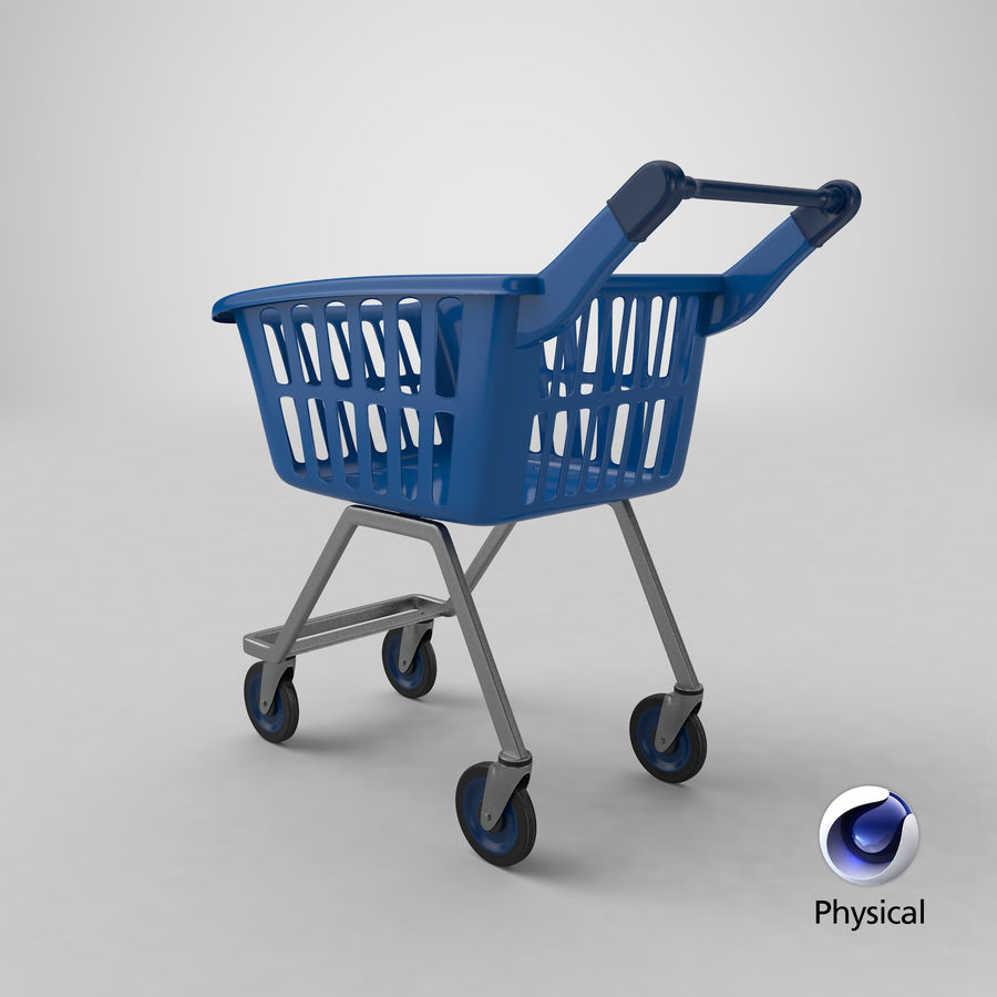 Kids shoping cart royalty-free 3d model - Preview no. 29