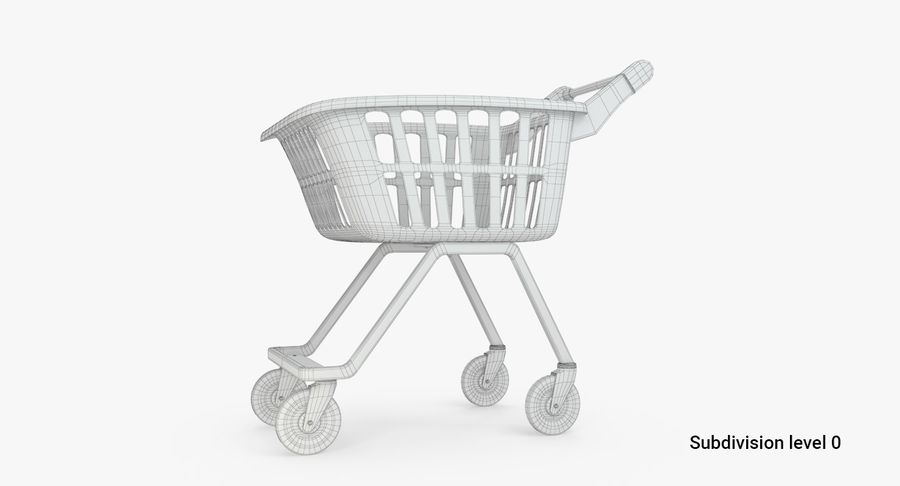 Kids shoping cart royalty-free 3d model - Preview no. 4