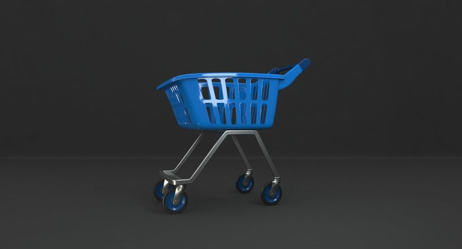 Kids shoping cart royalty-free 3d model - Preview no. 3
