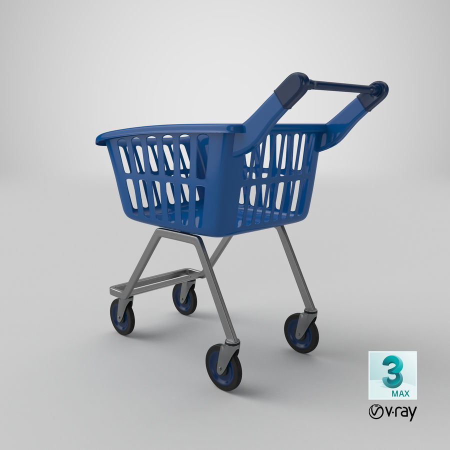 Kids shoping cart royalty-free 3d model - Preview no. 25