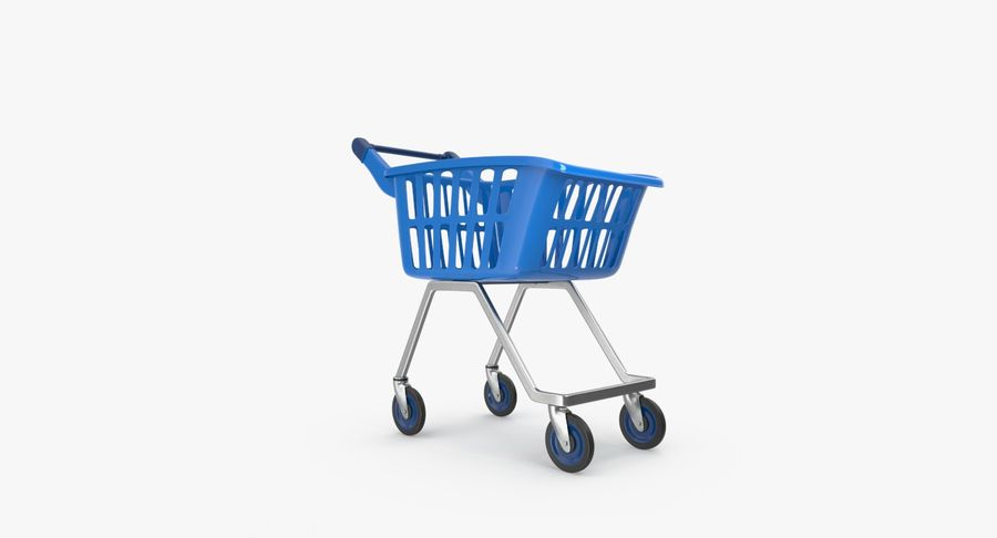 Kids shoping cart royalty-free 3d model - Preview no. 9