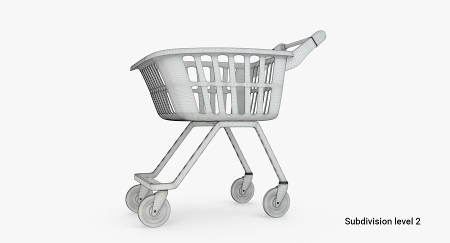 Kids shoping cart royalty-free 3d model - Preview no. 6
