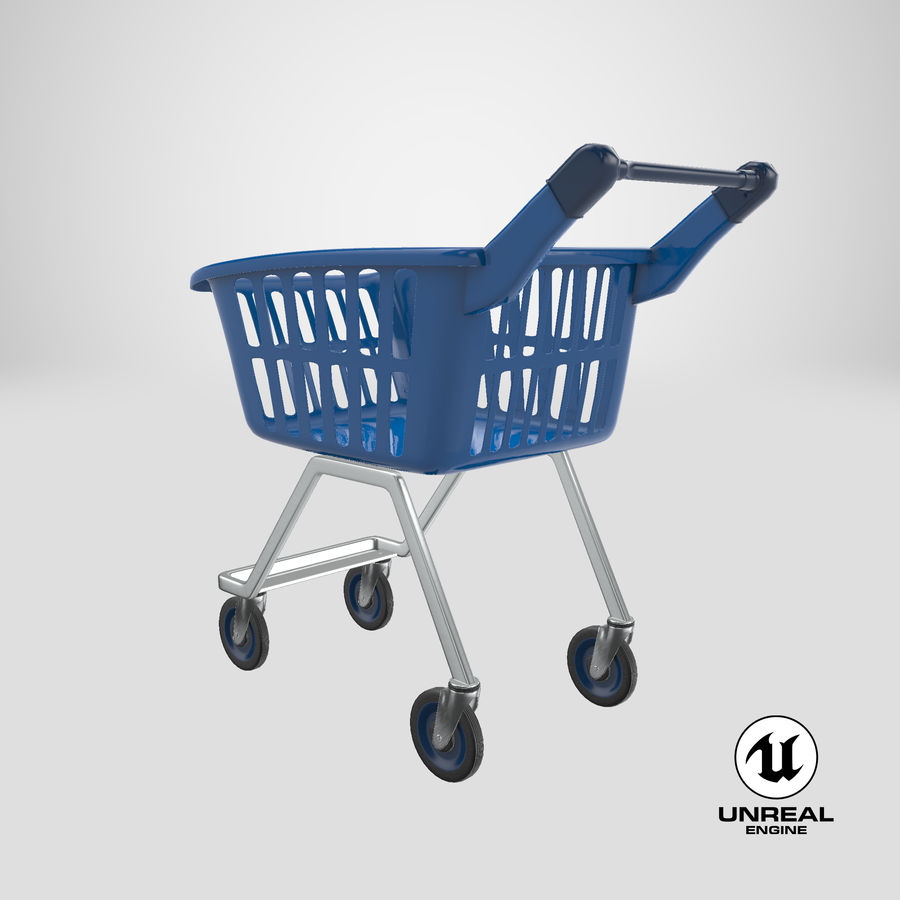 Kids shoping cart royalty-free 3d model - Preview no. 27