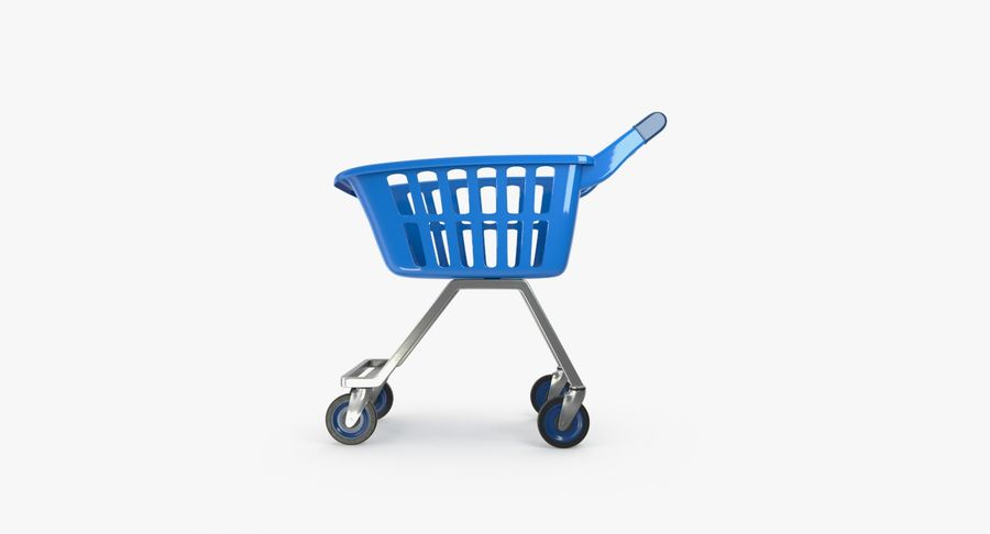 Kids shoping cart royalty-free 3d model - Preview no. 7