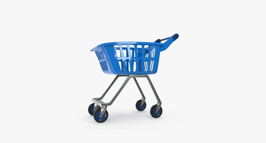 Kids shoping cart royalty-free 3d model - Preview no. 2