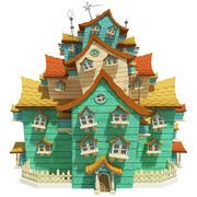 Fantasy House 03 3d model