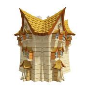 Fantasy House 04 3d model