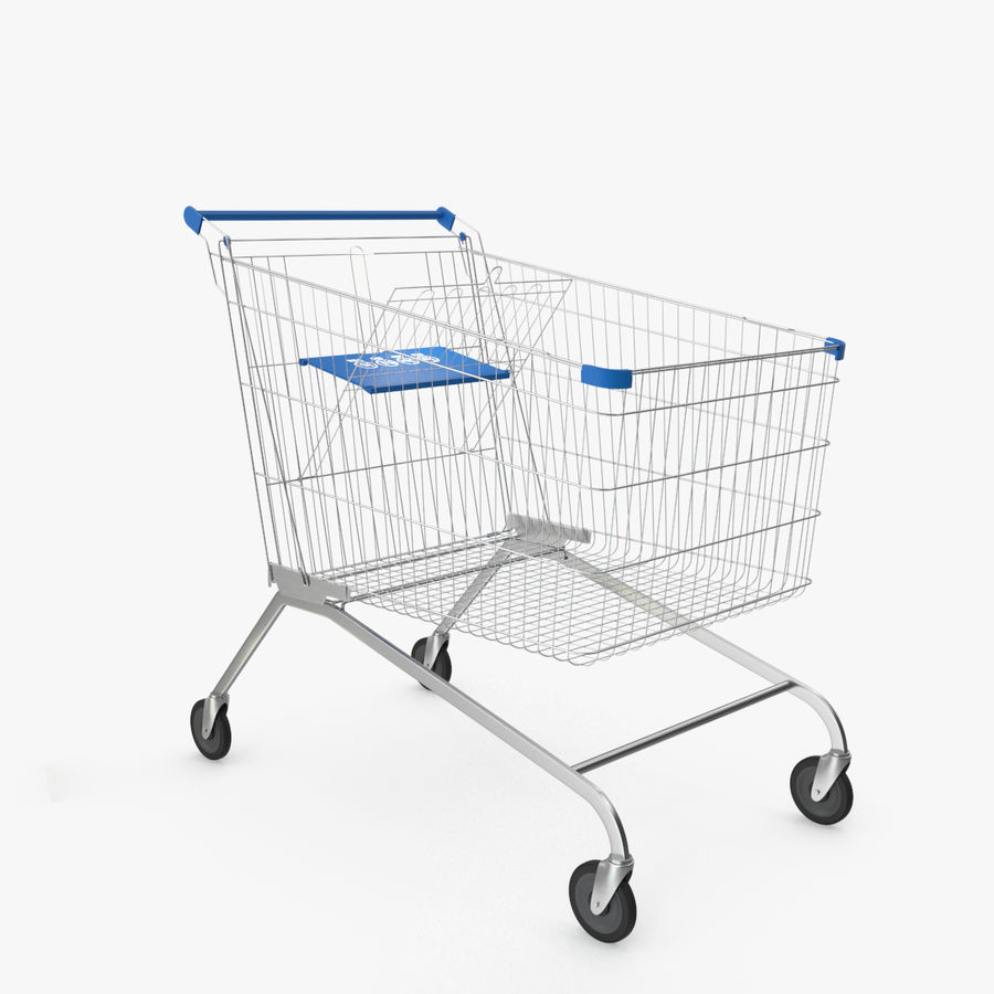 Supermarket Cart royalty-free 3d model - Preview no. 1