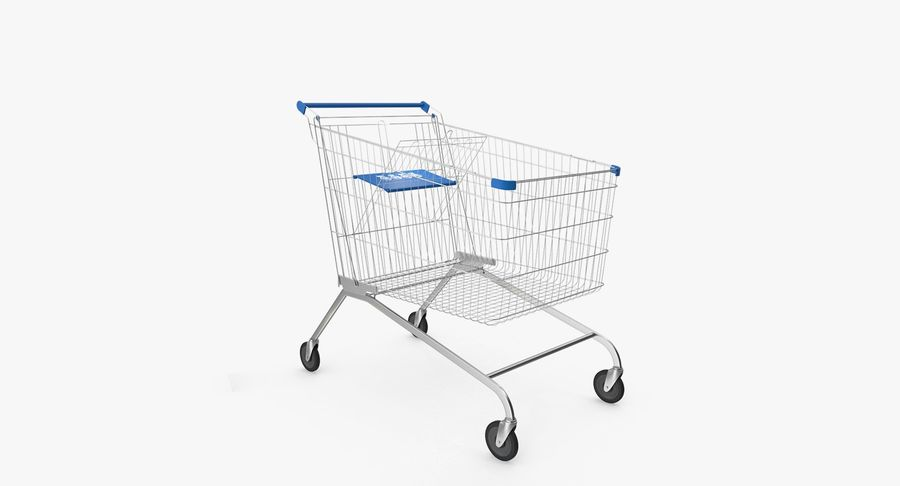Supermarket Cart royalty-free 3d model - Preview no. 2