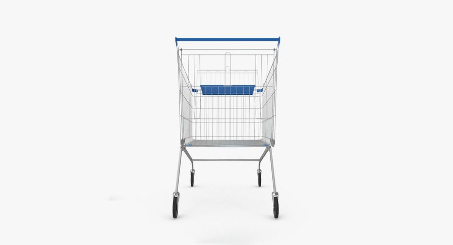 Supermarket Cart royalty-free 3d model - Preview no. 10