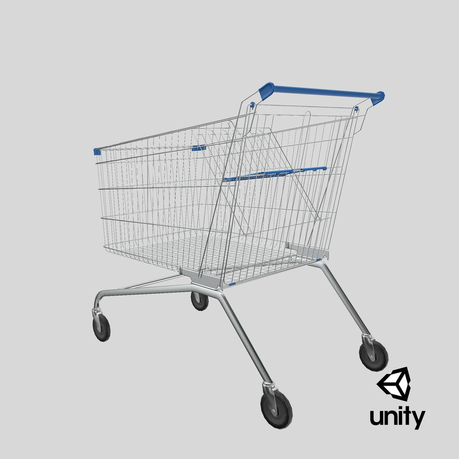 Supermarket Cart royalty-free 3d model - Preview no. 27