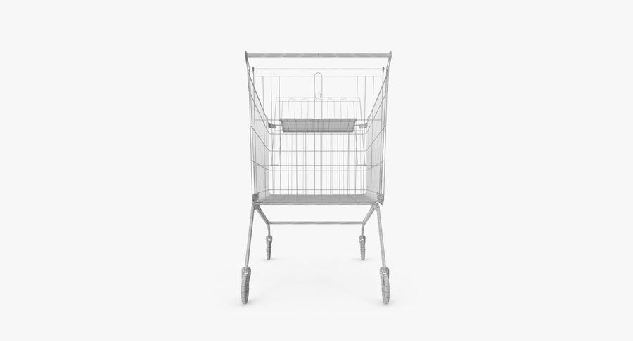 Supermarket Cart royalty-free 3d model - Preview no. 17