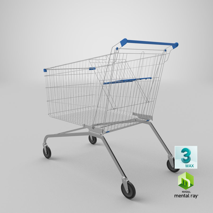 Supermarket Cart royalty-free 3d model - Preview no. 25