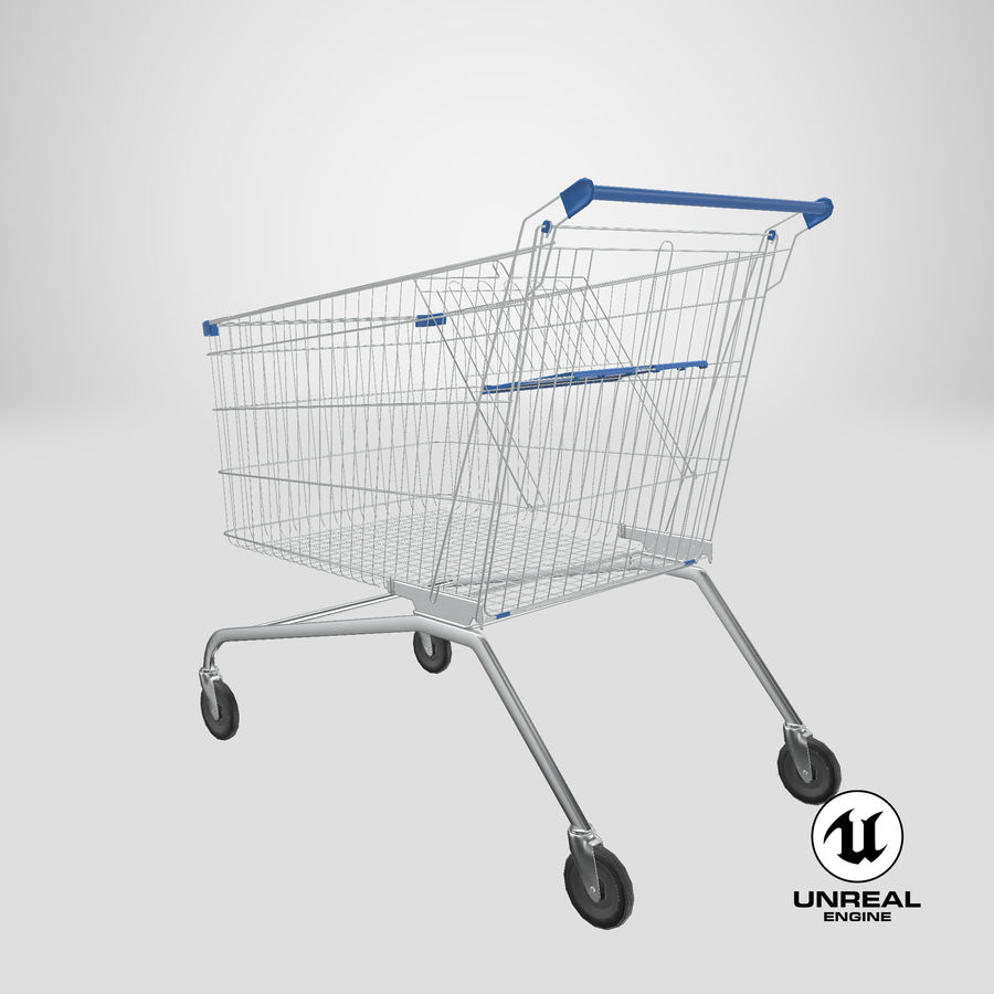 Supermarket Cart royalty-free 3d model - Preview no. 26