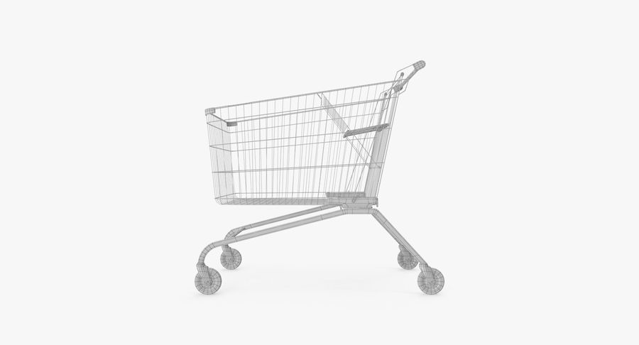 Supermarket Cart royalty-free 3d model - Preview no. 16