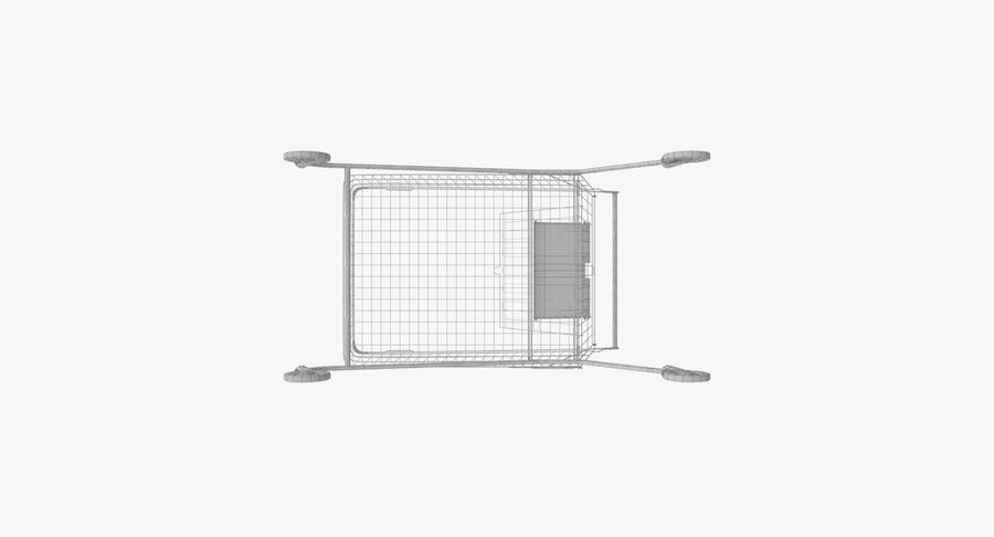 Supermarket Cart royalty-free 3d model - Preview no. 19