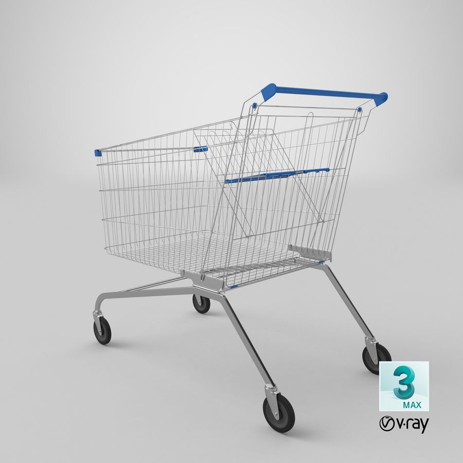 Supermarket Cart royalty-free 3d model - Preview no. 24