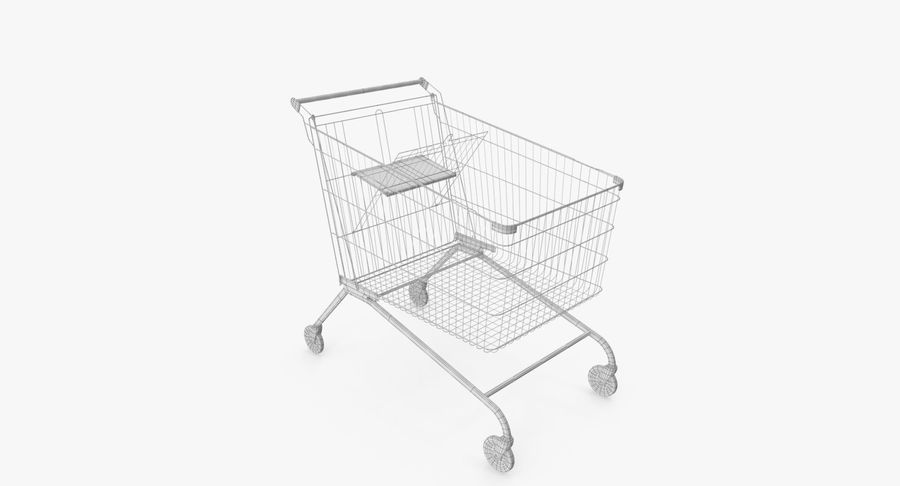 Supermarket Cart royalty-free 3d model - Preview no. 15