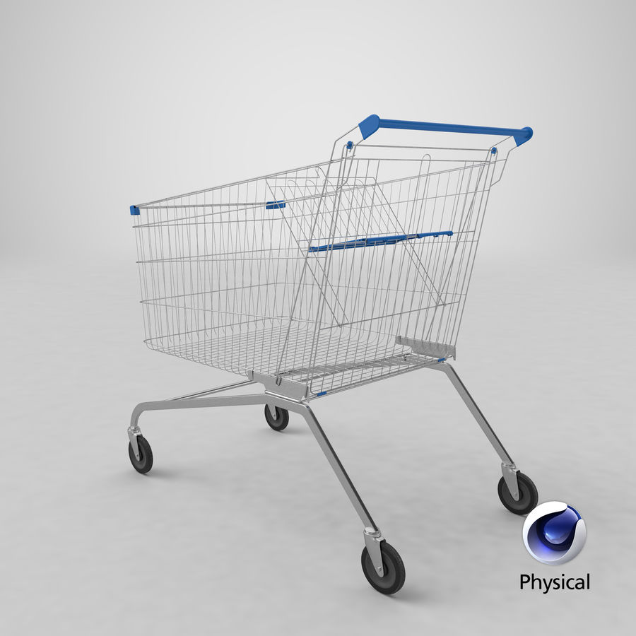 Supermarket Cart royalty-free 3d model - Preview no. 28