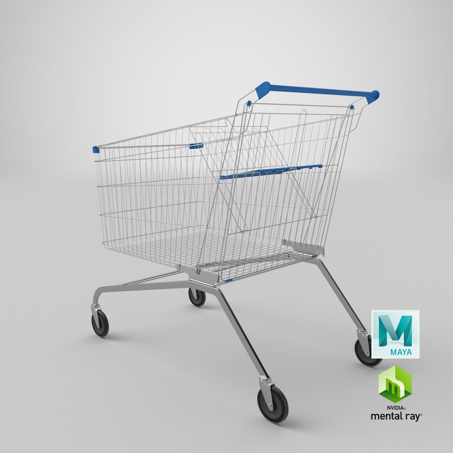 Supermarket Cart royalty-free 3d model - Preview no. 23