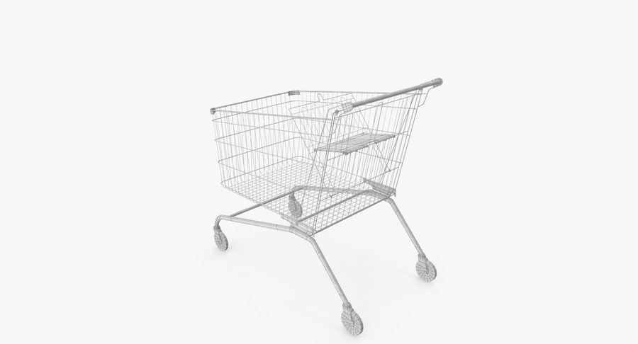 Supermarket Cart royalty-free 3d model - Preview no. 14