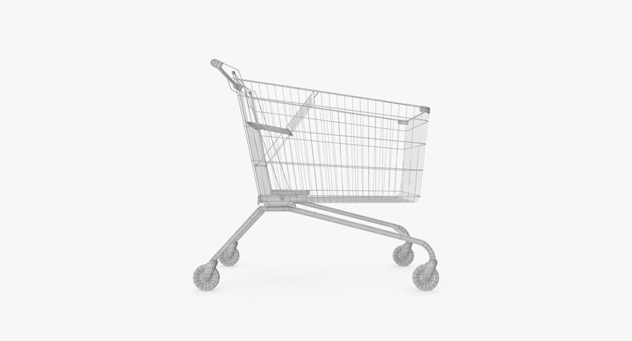 Supermarket Cart royalty-free 3d model - Preview no. 18