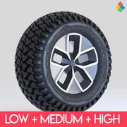 Projeto da roda do pneu Rim_2 3d model
