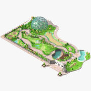 Low poly zoo. 3d model