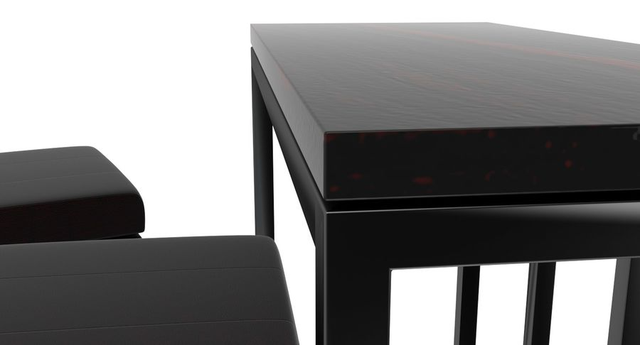 Barkruk en tafel royalty-free 3d model - Preview no. 6