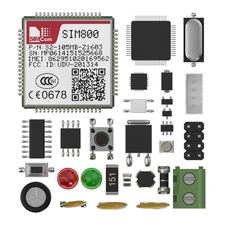 Componentes electrónicos royalty-free modelo 3d - Preview no. 2