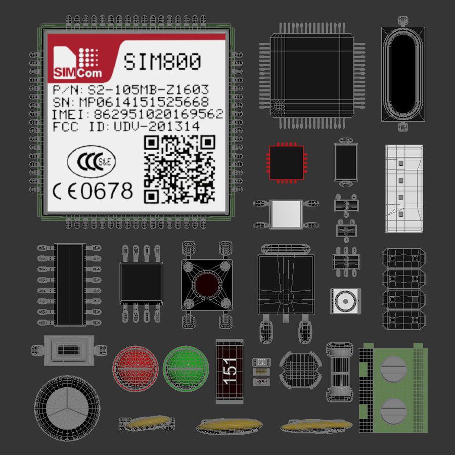 Componentes electrónicos royalty-free modelo 3d - Preview no. 5