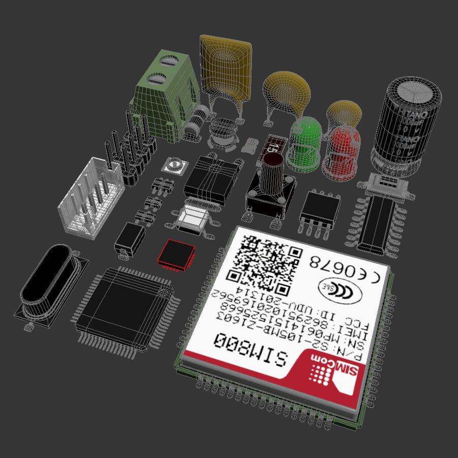 Componentes electrónicos royalty-free modelo 3d - Preview no. 4